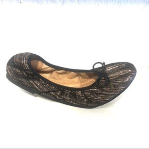 Italina Flats Bronze Black Shoes